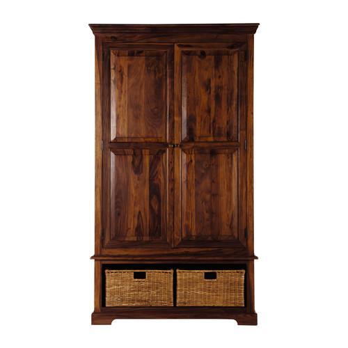 garde manger en bois de sheesham massif l 120 cm luberon. Black Bedroom Furniture Sets. Home Design Ideas