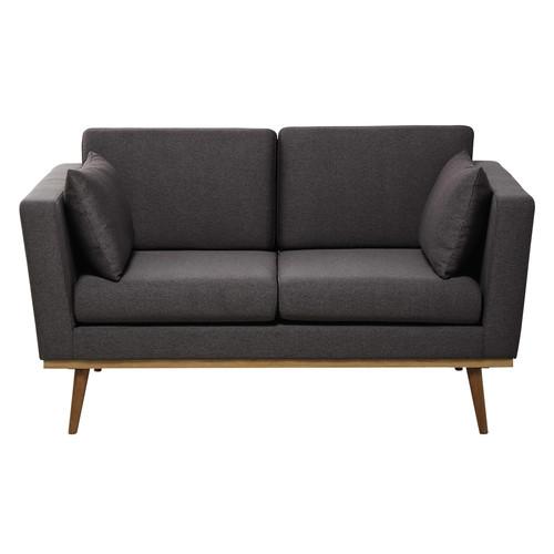 sofa 2 sitzig aus stoff grau timeo maisons du monde. Black Bedroom Furniture Sets. Home Design Ideas