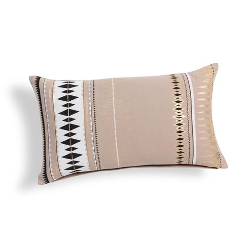 Housse de coussin en coton beige 30 x 50 cm touareg - Housse de coussin 30 x 50 ...