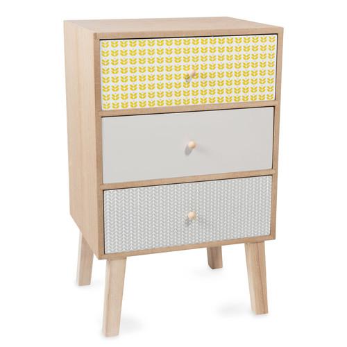Mueble de almacenaje con 3 cajones de madera al 48 cm vintage for Maison du monde petit meuble