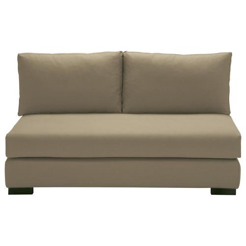 banquette modulable 2 places en coton taupe terence. Black Bedroom Furniture Sets. Home Design Ideas