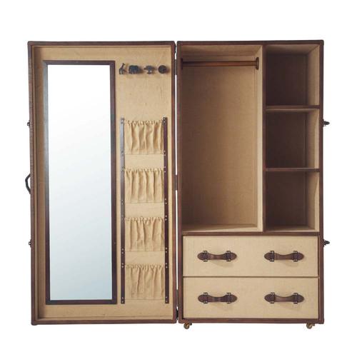 kinder kleiderschrank phileas fogg phileas fogg maisons du monde. Black Bedroom Furniture Sets. Home Design Ideas