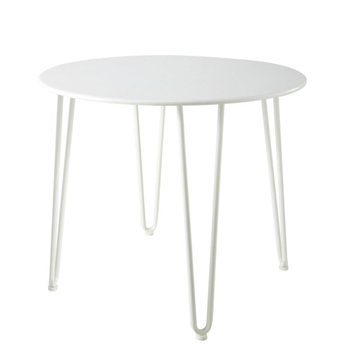 Table De Jardin En M Tal Blanche D 93 Cm Swing Maisons
