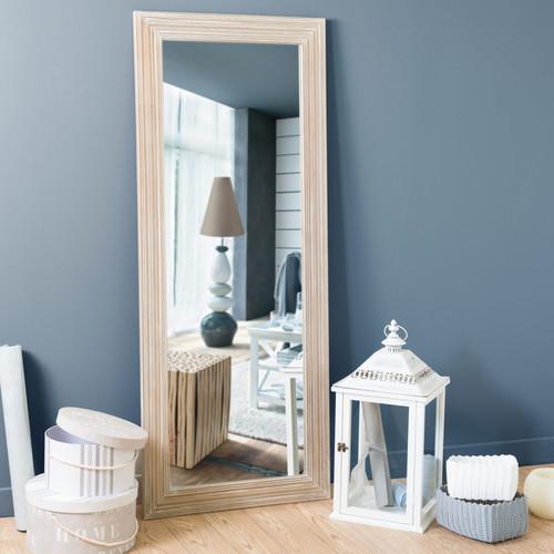 Miroir en bois de paulownia h 145 cm campagne maisons du - La maison du monde espejos ...
