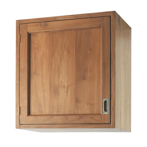 Meuble haut de cuisine ouverture droite en teck massif l - Meuble haut 60 cm ...