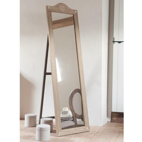 Espejo de pie de madera de paulonia al 170 cm camille for Espejo pie madera