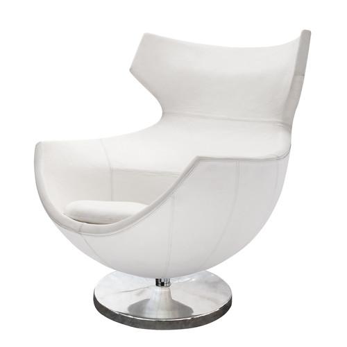 fauteuil de salon cuir vintage blanc guariche jupiter. Black Bedroom Furniture Sets. Home Design Ideas