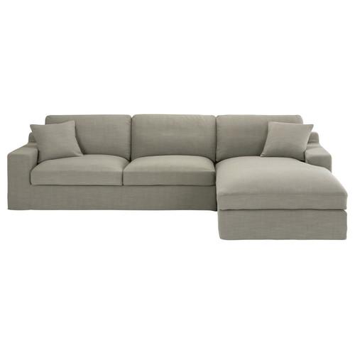 canape d39angle droit 5 places en tissu gris stuart With tapis de sol avec canapé d angle tissu en u