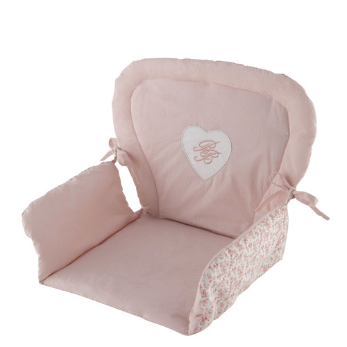 coussin de chaise haute pour b b en coton rose 25 x 30 cm. Black Bedroom Furniture Sets. Home Design Ideas