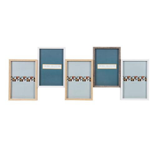 cadre photo 5 vues en bois 21 x 55 cm clark maisons du monde. Black Bedroom Furniture Sets. Home Design Ideas