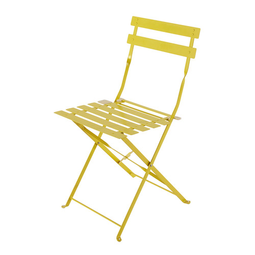 2 sedie pieghevoli da giardino gialle in metallo confetti for Sedie gialle