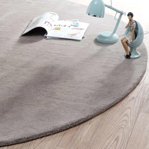 tapis rond soft taupe 200 cm diam tre maisons du monde. Black Bedroom Furniture Sets. Home Design Ideas