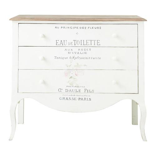 commode imprim e en manguier blanche l 90 cm. Black Bedroom Furniture Sets. Home Design Ideas