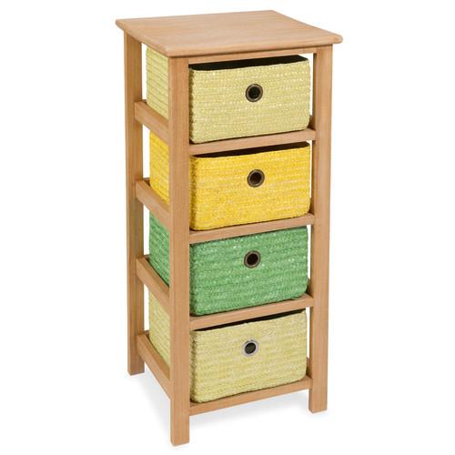 petit meuble 4 tiroirs en bois jaune vert h 71 cm jungle maisons du monde. Black Bedroom Furniture Sets. Home Design Ideas