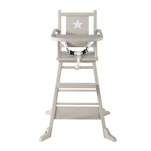 chaise haute pour b b en bois taupe pastel maisons du monde. Black Bedroom Furniture Sets. Home Design Ideas