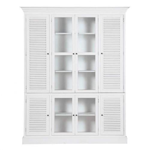 Alacena de madera blanca an 186 cm biarritz maisons du - Alacena de madera ...