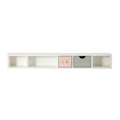 module de rangement pour bureau en bois blanc l 110 cm blush maisons du monde. Black Bedroom Furniture Sets. Home Design Ideas