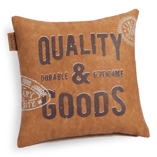 Housse de coussin imitation cuir 40 x 40 cm quality for Housse coussin cuir