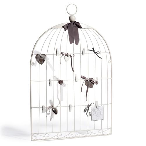 p le m le en m tal blanc 51 x 80 cm oiseau maisons du monde. Black Bedroom Furniture Sets. Home Design Ideas