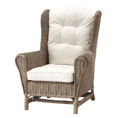 fauteuil en rotin hampton maisons du monde. Black Bedroom Furniture Sets. Home Design Ideas