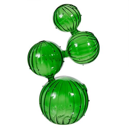 vase en verre vert h 26 cm cactus maisons du monde. Black Bedroom Furniture Sets. Home Design Ideas
