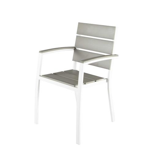 Fauteuil de jardin en aluminium blanc escale maisons du - Coussin pour fauteuil de jardin ...