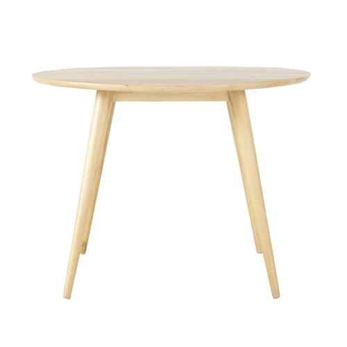 Table ronde de salle manger vintage en ch ne massif d 100 cm for Salle a manger table ronde chene