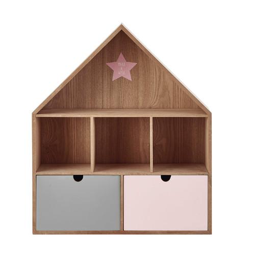 tag re maison en bois h 53 cm l a maisons du monde. Black Bedroom Furniture Sets. Home Design Ideas