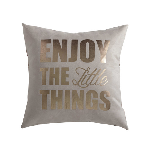 coussin beige dor 43 x 43 cm enjoy maisons du monde. Black Bedroom Furniture Sets. Home Design Ideas