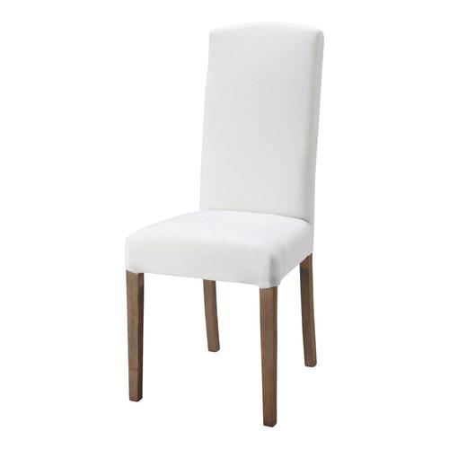 Sedia bianca in tessuto e legno alice maisons du monde - Chaise blanche maison du monde ...