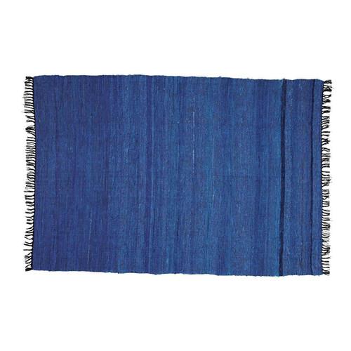 tapis bleu cobalt 140x200 maisons du monde. Black Bedroom Furniture Sets. Home Design Ideas