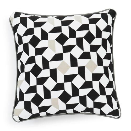 housse de coussin en coton blanche noire 40 x 40 cm eme. Black Bedroom Furniture Sets. Home Design Ideas