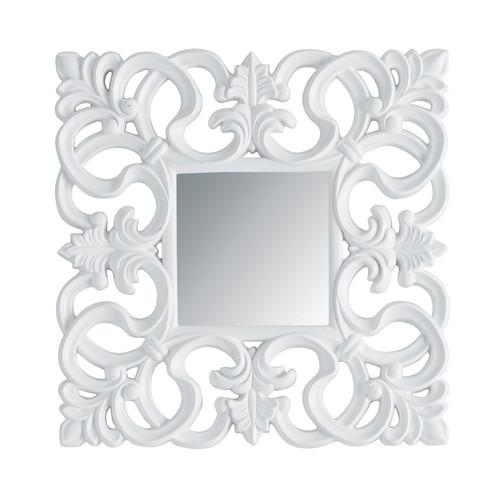 Miroir rivoli carr blanc for Miroir 70x90