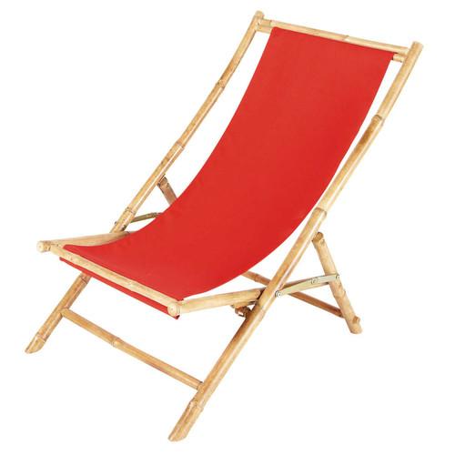 Chaise longue chilienne pliante en bambou l 94 cm for Chaise 87 cm