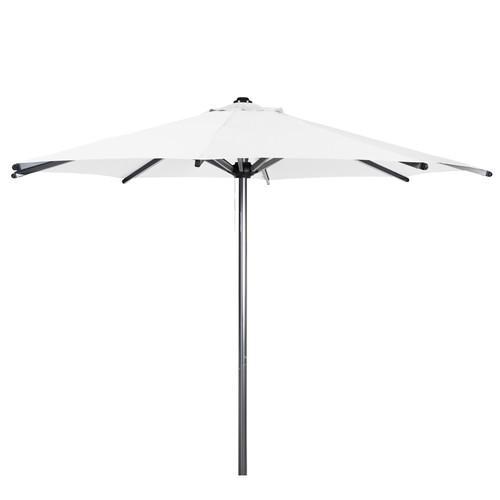 parasol en tissu et aluminium effet chrom blanc marbella maisons du monde. Black Bedroom Furniture Sets. Home Design Ideas