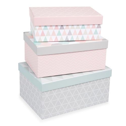 3 bo tes rectangles en carton l19 l21 l23 cm zo maisons du monde. Black Bedroom Furniture Sets. Home Design Ideas