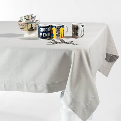 Nappe en coton gris clair 150 x 250 cm for Miroir 80x160