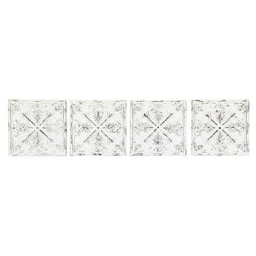 4 frises en m tal blanches l 73 cm genievre. Black Bedroom Furniture Sets. Home Design Ideas