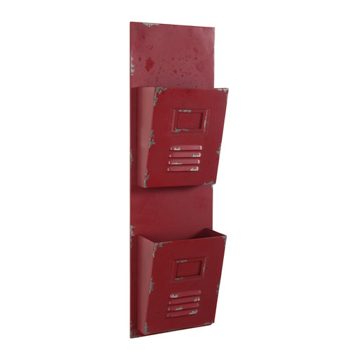 porte courrier en m tal rouge bourgogne maisons du monde. Black Bedroom Furniture Sets. Home Design Ideas