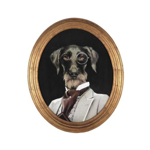 Cadre d co chien en bois 53 x 64 cm oscar maisons du monde - Maison du monde cadre photo ...