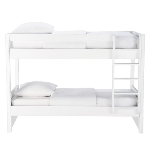 lit superpos en bois blanc newport maisons du monde. Black Bedroom Furniture Sets. Home Design Ideas