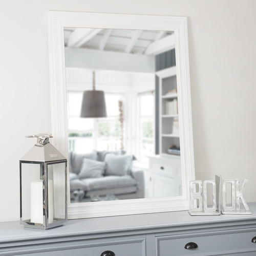 Miroir napoli blanc 120x90 maisons du monde for Miroir zinc maison du monde