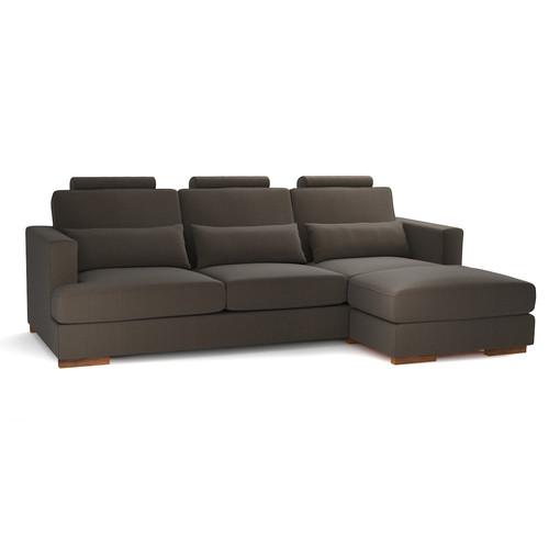 canape d39angle 5 places fixe personnalisable orlando With tapis exterieur avec canapé d angle tissu 6 places