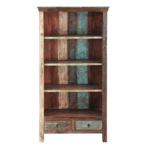 biblioth que en bois recycl l 96 cm calanque maisons du monde. Black Bedroom Furniture Sets. Home Design Ideas