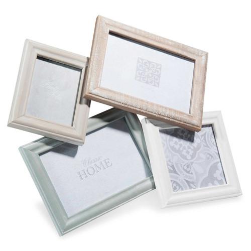 cadre photo 4 vues en bois 30 x 32 cm lysandre maisons du monde. Black Bedroom Furniture Sets. Home Design Ideas