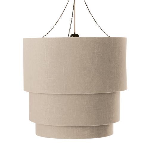 suspension triple non lectrifi e en coton beige d 40 cm tambour maisons du monde. Black Bedroom Furniture Sets. Home Design Ideas