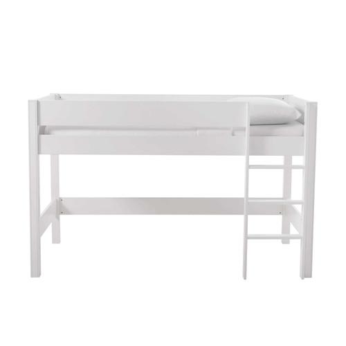 lit mezzanine enfant 90 x 190 cm en bois blanc tonic maisons du monde. Black Bedroom Furniture Sets. Home Design Ideas