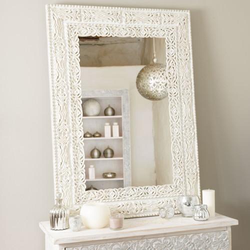 Specchio bhopal bianco maisons du monde - Maison du monde espejos ...