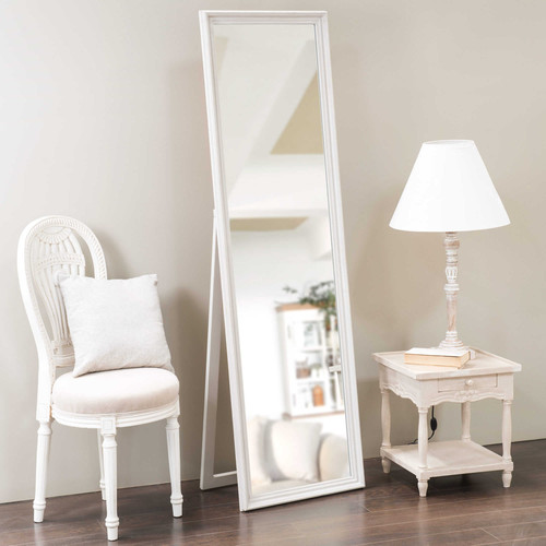 miroir psych en bois gris clair h170 cm cl a maisons du monde. Black Bedroom Furniture Sets. Home Design Ideas
