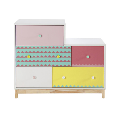 commode enfant en bois multicolore l 100 cm berlingot maisons du monde. Black Bedroom Furniture Sets. Home Design Ideas